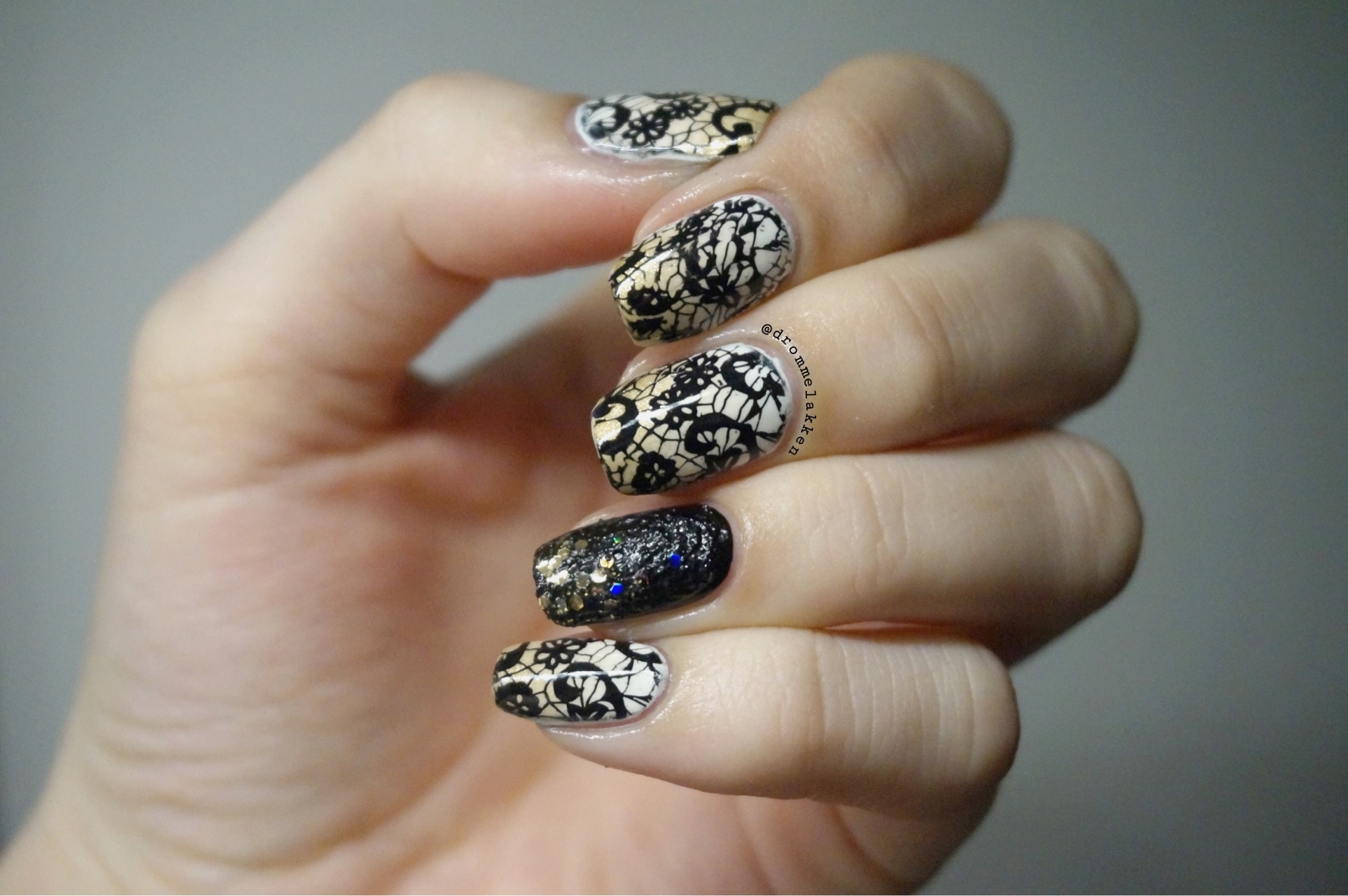 Black dress nails - Nails For Black And White Dress